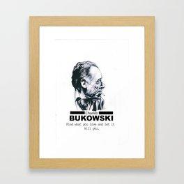 Charles Bukowski Framed Art Print