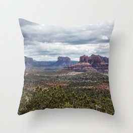 The View from Red Rock Loop Throw Pillow