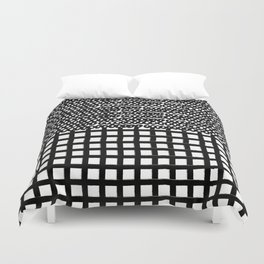 Circles and Grids Duvet Cover