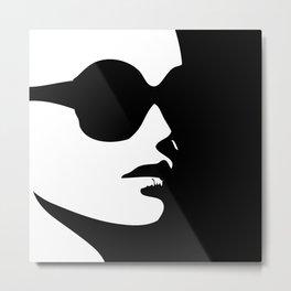 Profile of a lady in a trendy eye wear Metal Print