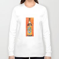 ale giorgini Long Sleeve T-shirts featuring BEER ART - Oberon Ale by Dorrie Rifkin Watercolors
