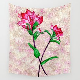 Indian Paintbrushes with Pinkinsh background Wall Tapestry
