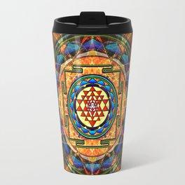The Sri Yantra - Sacred Geometry Travel Mug