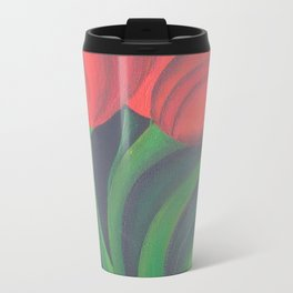 Red Tulip Diptych Travel Mug