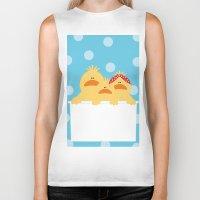 ducks Biker Tanks featuring Ducks by SANTA