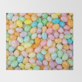 Happy Easter Speckled Jelly Beans Throw Blanket
