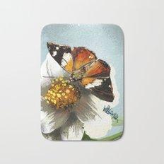 Butterfly on flower 12 Bath Mat