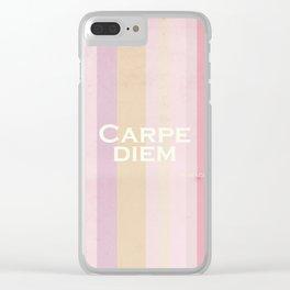 Carpe Diem - Horace Clear iPhone Case