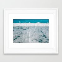 wave Framed Art Prints featuring Wave by SensualPatterns