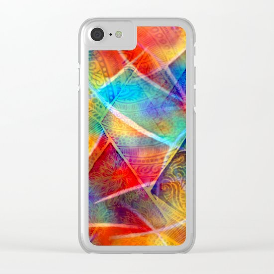 Boho Rainbow Clear iPhone Case