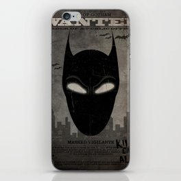 WANTED: Masked Vigilante iPhone Skin