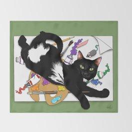 The Artist's Cat Throw Blanket