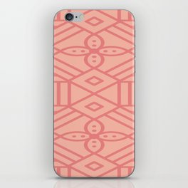 Dark Pink On Light Pink Boho Design iPhone Skin