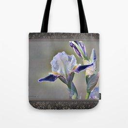 Miniature Tall Bearded Iris named Consummation Tote Bag
