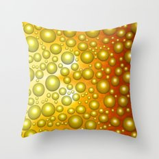 Cheerful bubbles Throw Pillow