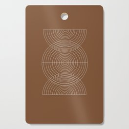 Burnt Orange, Geometric shape Cutting Board