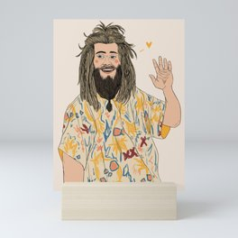 fat thor Mini Art Print
