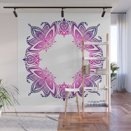 indian pattern with lotus Wall Mural