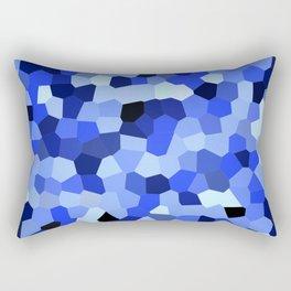 Geometric Blues Rectangular Pillow