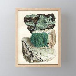 Vintage Mineralogy Illustration Framed Mini Art Print