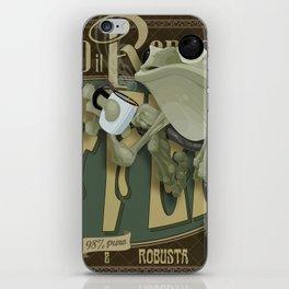 Frog & Coffee by Paulo Coruja iPhone Skin