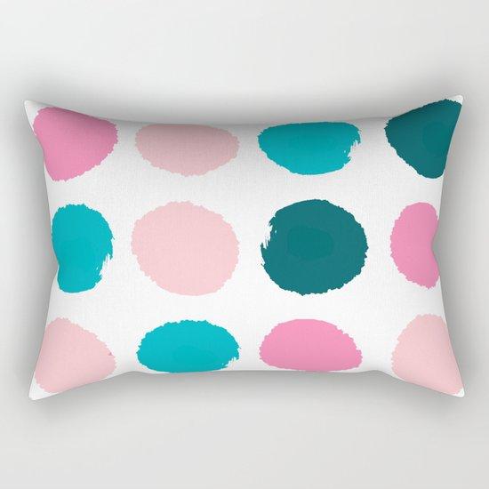 Hugo - abstract modern color palette gender neutral baby nursery dorm college art Rectangular Pillow