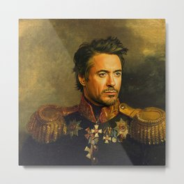 Robert Downey Jr. - replaceface Metal Print