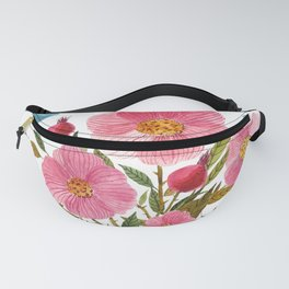 Will Not Be Tamed Floral Watercolor Fanny Pack