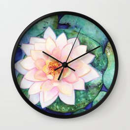Waterlily Wall Clock