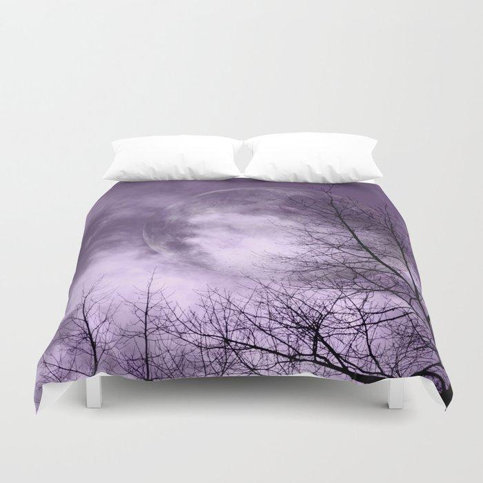 Purple Night  - JUSTART © Duvet Cover