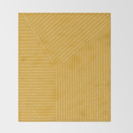 Lines / Yellow Throw Blanket