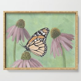 Monarch Butterfly Art, Orange Butterfly Painting Serving Tray