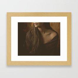 Bare Shoulder Abstract Portrait Framed Art Print