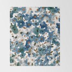 Georgia Floral Blue Throw Blanket