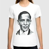 obama T-shirts featuring Obama by Bridget Davidson