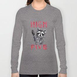 Raccoon High Five  Long Sleeve T-shirt