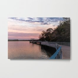 The Boardwalk at Lady Bird Lake Metal Print