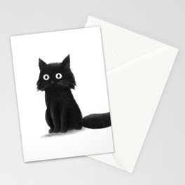 Sitting Cat (mono) Stationery Cards