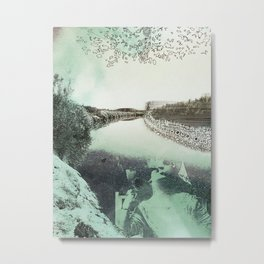 Border Embrace Metal Print