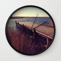 denmark Wall Clocks featuring Denmark by Elisabeth Mochner