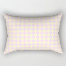 Cream Yellow and Pink Lace Diamonds Rectangular Pillow