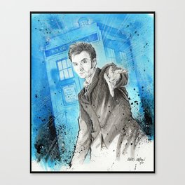 Doctor Who: The 10th Doctor Canvas Print