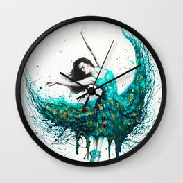 Chrysocolla Dance Wall Clock