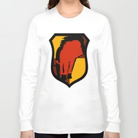 gryffindor Long Sleeve T-shirts featuring Gryffindor Crest by Electric Unicorn