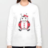 ladybug Long Sleeve T-shirts featuring LadyBug by Alìta Design
