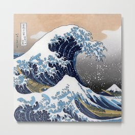 "Hokusai , "" The Great Wave off Kanagawa "" Metal Print"