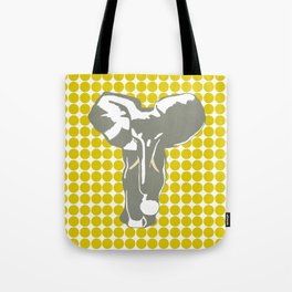 Golden Poppy Safari Dot with Pop Art Elephant Tote Bag