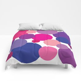 Cool Colors Bubble Circles Comforters