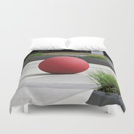Round and Red Duvet Cover