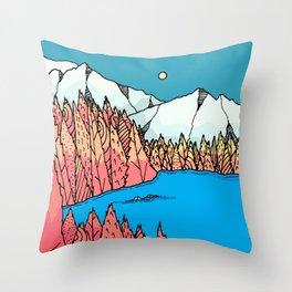 The still autumn lake Throw Pillow